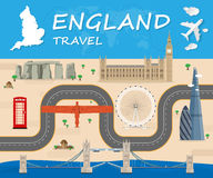 England Landmark Global Travel. And Journey Infographic Vector Design Template.vector illustration Royalty Free Stock Photos