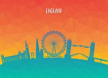 England Landmark Global Travel And Journey paper background. Vec. Tor Design Template.used for your advertisement, book, banner, template, travel business or Royalty Free Stock Image