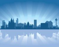 england linia horyzontu Liverpool ilustracja wektor