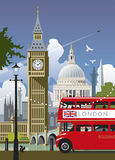 england london stock illustrationer
