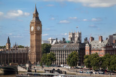 england london ben för stor byggnad parlament Arkivfoton
