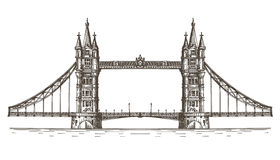 England, London, the bridge on a white background vector illustration
