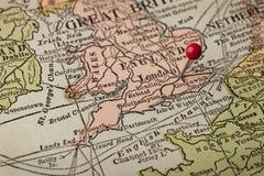 england London mapy rocznik Zdjęcie Stock
