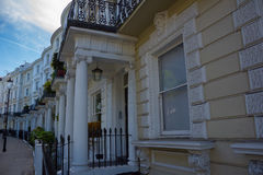 England, London, Notting Hill, Columns. Royalty Free Stock Photos