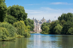 England, London. The palace at the bottom of the lake. Stock Image