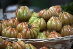 England London, Southwark, stadmarknad, grönsakStall, tomatskärm Royaltyfri Foto