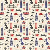 England, London, UK. Seamless background vector illustration