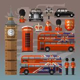 England, London, UK. Set of colored icons Stock Photo