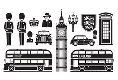 England, London, UK set of icons Stock Photo