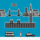 England London Vector Elements. Eps 8 file Format Stock Image