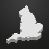 England map in gray on a black background 3d Royalty Free Stock Photo
