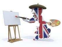England map painter Stock Photos