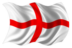 England-Markierungsfahne getrennt Lizenzfreie Stockfotos