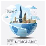 England-Markstein-globale Reise und Reise Infographic Lizenzfreies Stockfoto