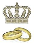 England Marriage. United kingdom crown stock illustration