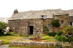 England Medieval house in the. A medieval house in England, Tinatagel known as The Old Post Office Stock Photo