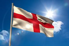 England national flag on flagpole Royalty Free Stock Photos