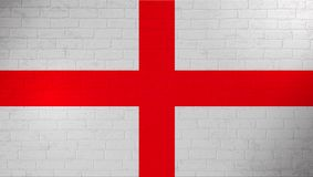 England national flag painted on brick wall. Stone wall texture background. Vintage template for wallpaper,poster. Banner. Background for design in country vector illustration