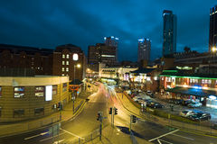 England night scene. Night scene in Birmingham, England Royalty Free Stock Photography