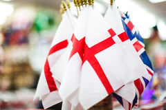 England och UK-flaggor Royaltyfri Foto