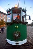 ENGLAND OLD TRAM coach Stock Image