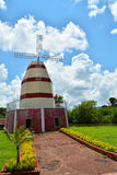England panienkami Norfolk windmill krajobrazu Fotografia Stock