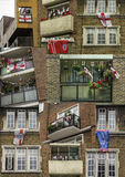 England Patriotic Balconies Stock Photo