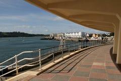 england plymouth strand Arkivbild