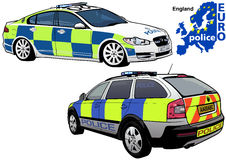 England Police Car. Colored Illustration from Series Europol, Vector Royalty Free Stock Photos