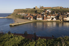 england port whitby yorkshire Royaltyfria Bilder