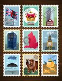 England Posters Set royalty free illustration