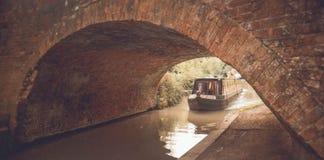England - reisend entlang den großartigen Verbands-Kanal stockbild
