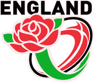England Rugby Ball English Rose Royalty Free Stock Photography