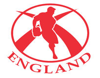England rugby player ball Royalty Free Stock Photo