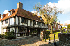 England Rye Historical Square. In medieval times Rye, East Sussex was completely surrounded by the sea. Today the city has become a tourist attraction with its Royalty Free Stock Photos