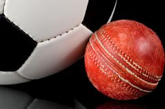 England's Games. Englands games - Cricket and Football - Soccer -indicates England's historic influence in the world Stock Images