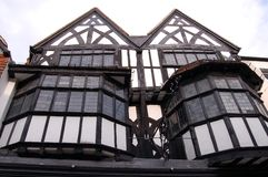 England Salisbury Old Houses. Two old houses in the main street of salisbury, England Royalty Free Stock Photos