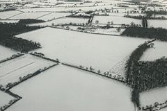 England-Schnee Lizenzfreie Stockfotografie