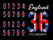 England Set Number Flag United Kingdom Royalty Free Stock Images