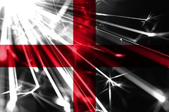 England shining fireworks sparkling flag. New Year 2019 and Christmas futuristic shiny party concept flag. England shining fireworks sparkling flag. New Year stock illustration