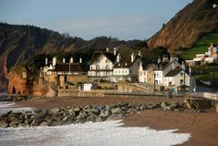 england sidmouth Arkivfoton