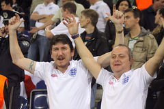 England soccer fans Stock Photo