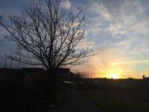England-Sonnenuntergang Stockfoto