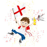 England Sport Fan with Flag Stock Photos