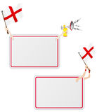 England Sport Message Frame with Flag. Stock Images