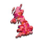 England State Map Stock Images