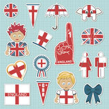 England supporter stickers Royalty Free Stock Photography