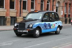 England taxi cab Royalty Free Stock Images