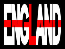 England text with flag Stock Images