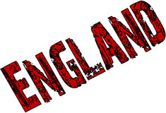 England Text sign illutration. On white background Royalty Free Stock Photography